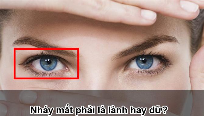 nháy mắt phải ở nữ
